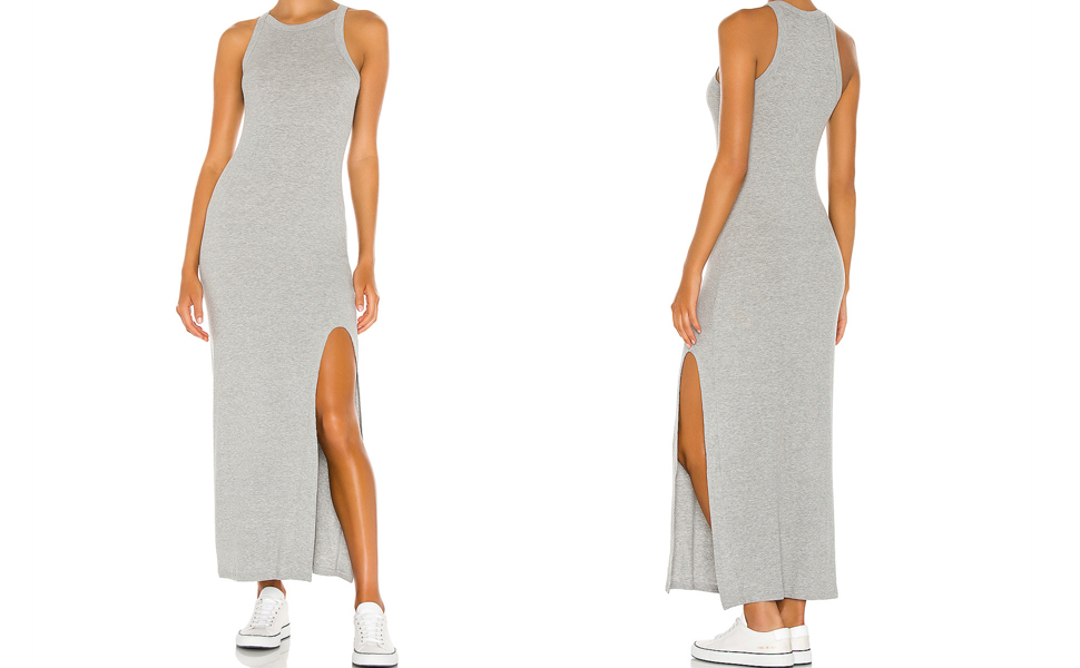 womens tank top dress for women high slit long bodycon dress round neck dress for t-shirt