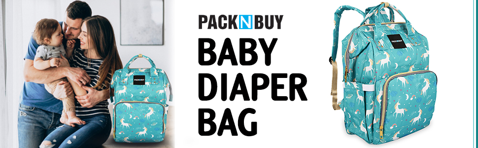 PACKNBUY Baby Diaper Bag Maternity Mother Backpack blue Color Stylish Easy to Carry Baby Maternity