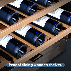 100% Pulled Out Wood Shelves