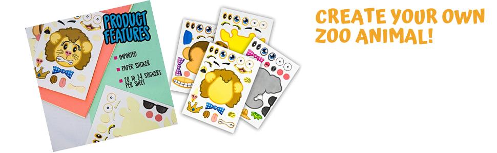 You Choose Creative Memories ANIMALS Sticker Sheets