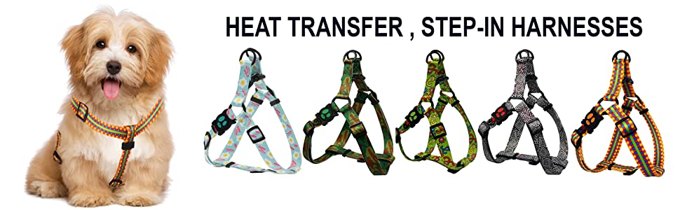 Heat Transfer Step In Harness for Dogs Ultimate Comfort for Pets