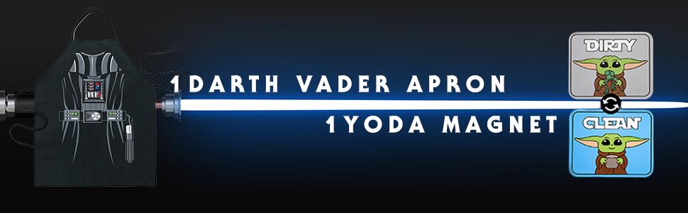 Kitchen Darth Vader Apron, Yoda Dishwasher Magnet Gift