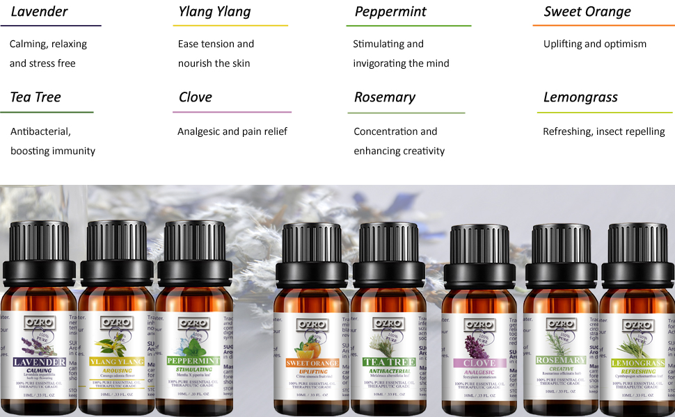 ozro essential oils decription