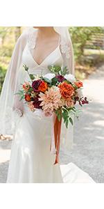 11'' Terracotta Bridal Bouquet