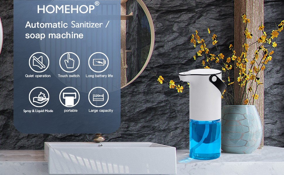 Homehop Automatic senser hand sanitizer or liquid soap spray  machine dispenser for home  touchless