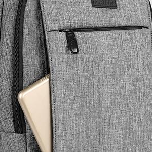 grey laptop backpack 15.6 inch men office bag for men college backpack