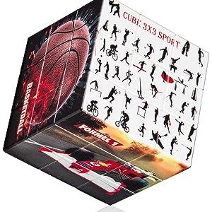 Geschicklichkeitsspiel, Cube 3x3x3, Cubix, Rubik's, Sport, Gehirnjogging, spielzeug ab 2 Jahre, skip