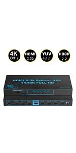 4K HDMI Splitter 1 in 8 Out