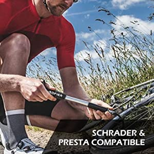 smalll and lightweight mini bike pump portable air pump bike tire inflator