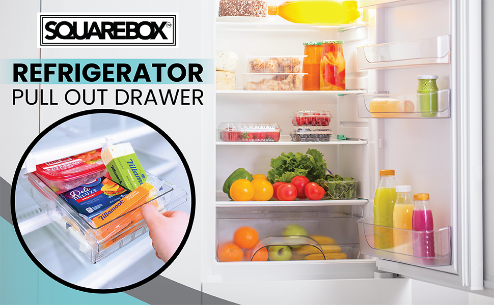 SQUAREBOX Refrigerator Pull Out Drawer