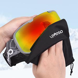 LEMEGO Occhiali da Sci Anti-Nebbia Maschere da Sci OTG Occhiali da Sci Protezione UV400 Occhiali da Neve con Doppia… a20c13f2 e8eb 4404 abaa 51147bce1f73.