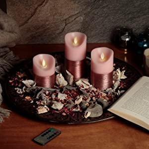 pink candles book