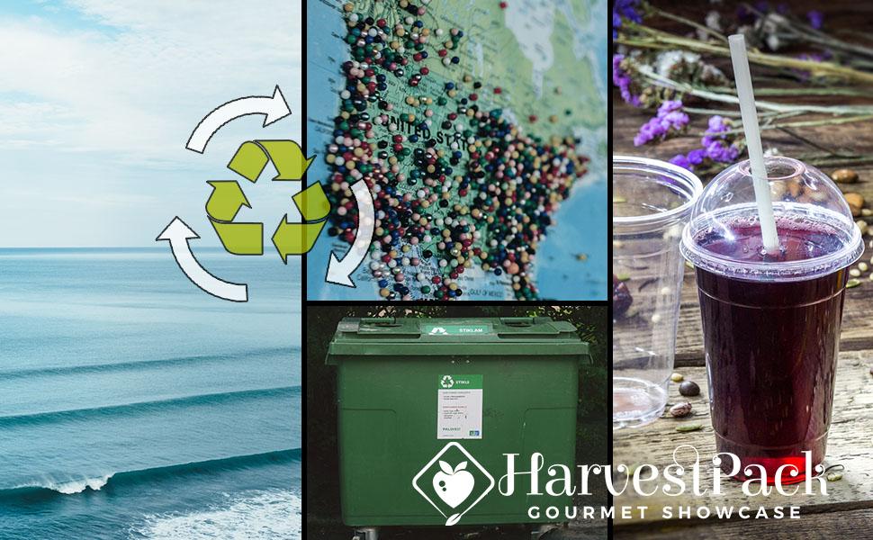 recyclable, ocean, map, bin