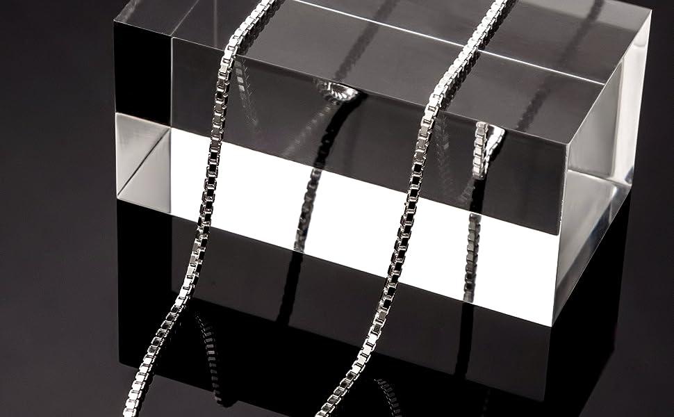 box chain sterling silver