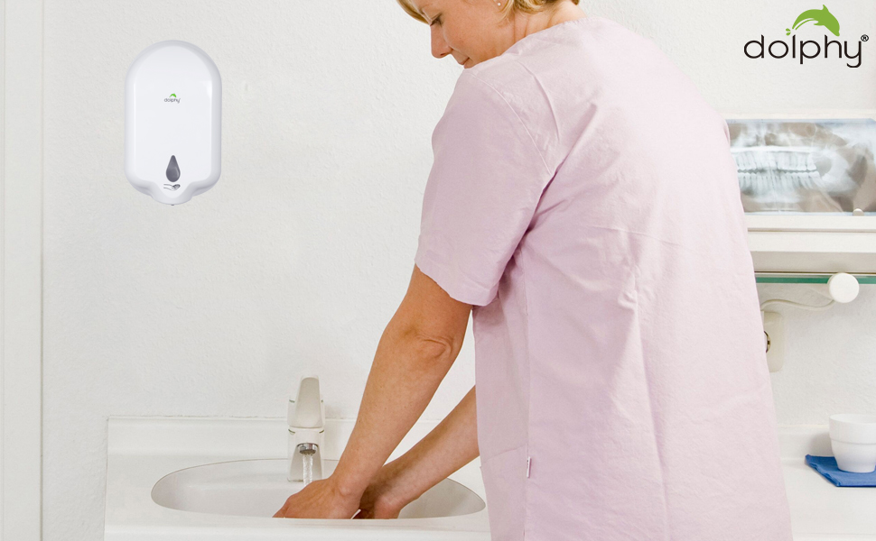 DOLPHY automatic hand wash spray sanitizer dispenser soap foam  liquid touchless sensor wall mounted