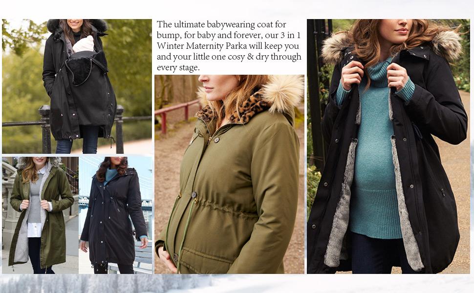 GoFuture\u00ae 3in1 multifunctional jacket TAYLOR  Maternity jacket nursing jacket breastfeeding pregnancy Belly to baby  with LOVE
