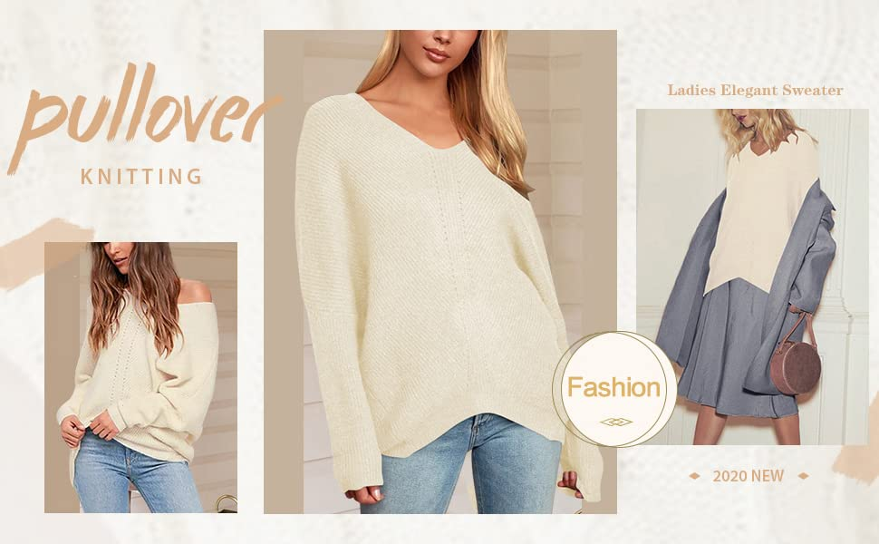 Prinbara Womens Long Sleeve Mock Neck Sweater Loose Fitting Knit Pullover Tops Slouchy Tunic