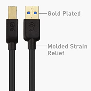 Cable Matters USB 3.0 Cable (USB 3 Cable, USB 3.0 A to B Cable)