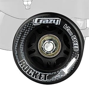Crazy Skates Roller Skate Wheels speed bearing abec smooth 62mm urethane indoor outdoor rink street