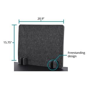 refocus raw freestanding desk divider acoustic privacy panel