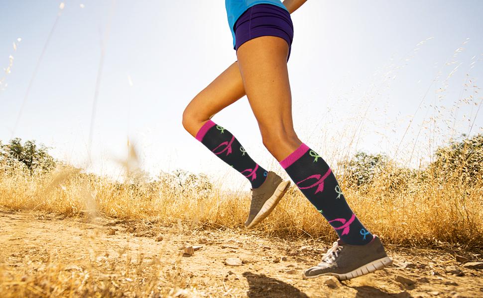 viaggi ideali per corsa ACTINPUT Calze ad alta compressione atletica vene varicose per donne e uomini