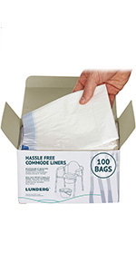100 commode liners