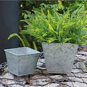 metal square planter
