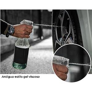V60 Sport Elimina aceite de llantas Aluminio Lacadas. Limpia Ferodo Negro y Grasa sobre el neumático
