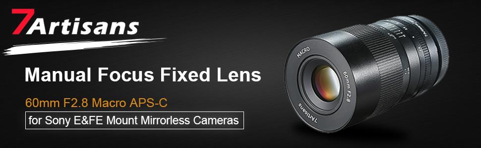 7artisans 60 Mm F2 8 Macro Lens Aps C Manual Fixed Lens Camera Photo