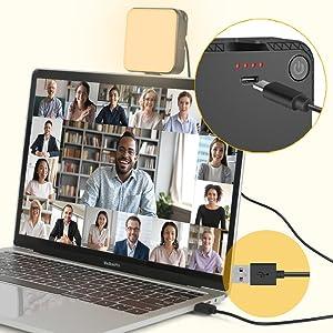 webcam lighting for video conferencing