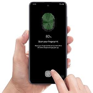 Samsung Galaxy A51 Cell Phones Tap fingerprint