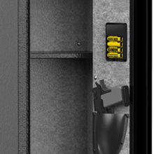Inner side of rifle safes