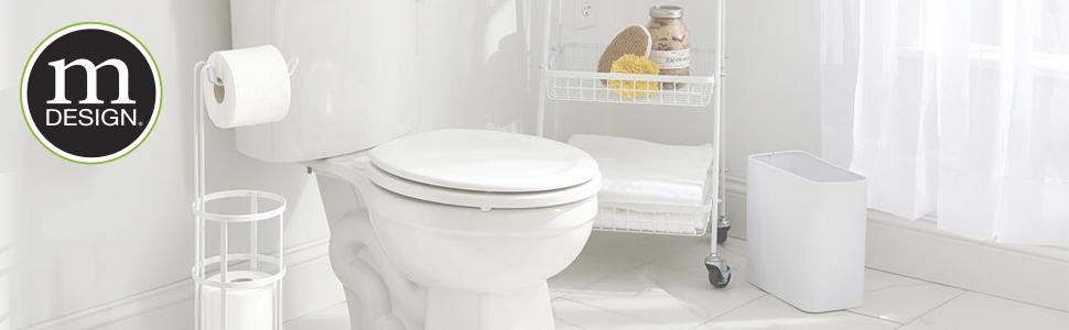 waste can plunger toilet bowl brush bath room shower storage bin rolling cart basket organization