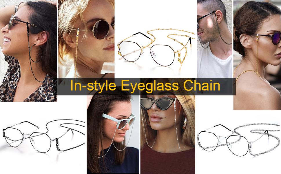 Women Men Eyeglass Chain
