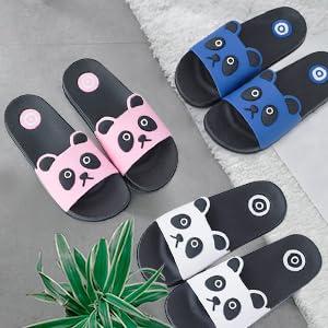 Acfoda Pantoufles d/ét/é pour enfants Plates antid/érapantes Chaussures de douche /& de bain L/ég/ères et souples Taille 23-34