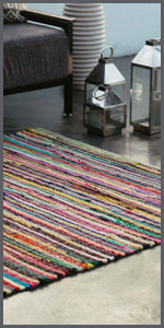 rug made from chindi rags