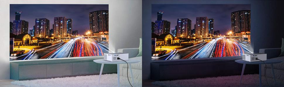 Vividbeam 550 6500 lumens 1080p full hd video projector wifi smart