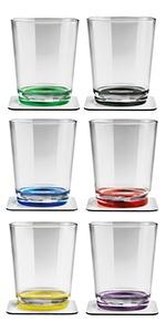 children clear outdoor durable shatterproof beach acrylic heavy base ware tall modern non stackable