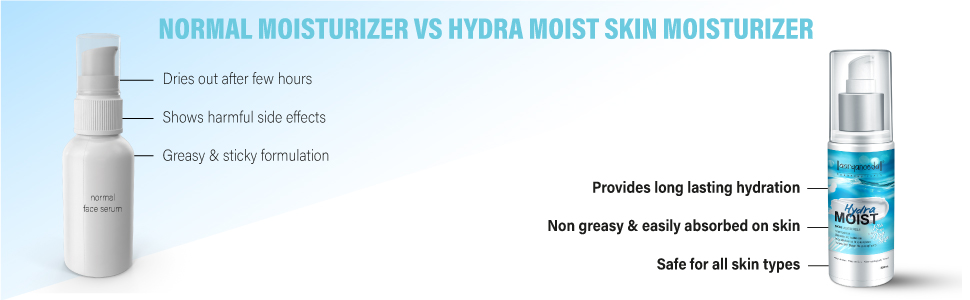 aryanveda hydra skin moisturizer vs other brands