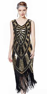Metme 1920s Gatsby Flapper Dress