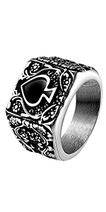 Spades Heart  ring