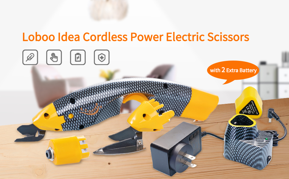 Loboo Idea Cordless Power Electric Scissors Cutting Sewing Tool