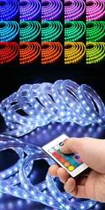 led rope light stripe color