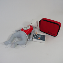AED with child manikin