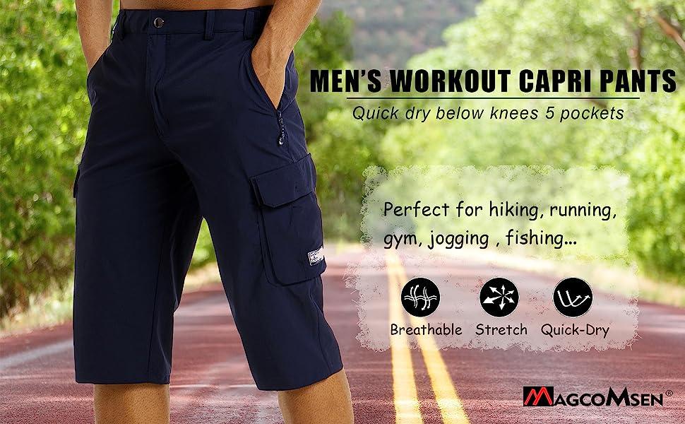 workout shorts 3/4 pants