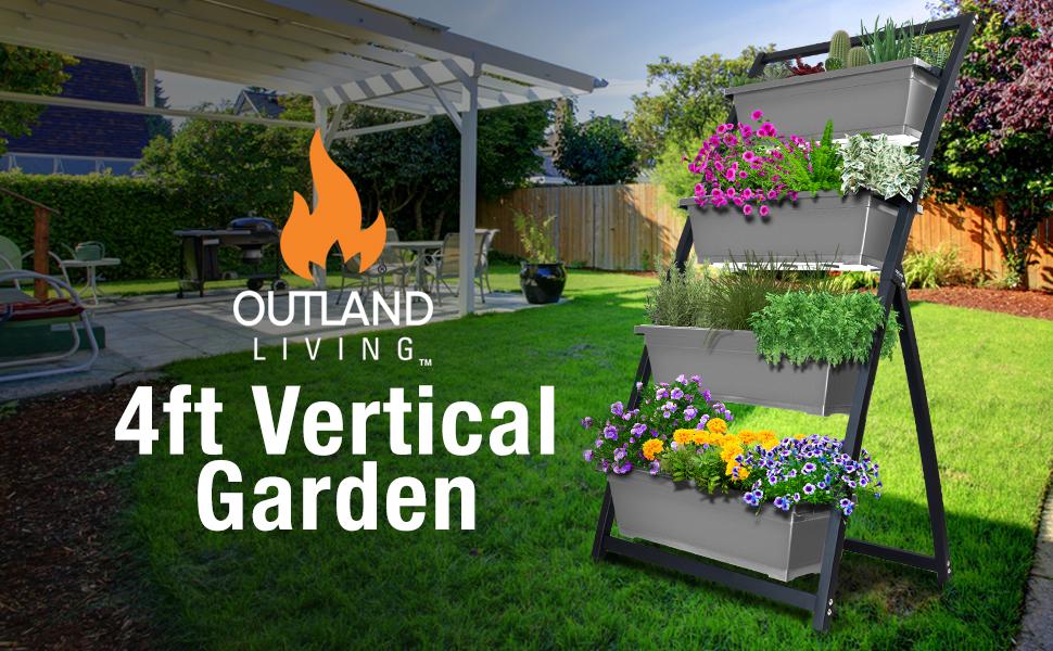 vertical planters outdoor