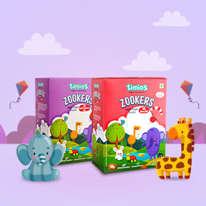 Zookers, Animal Shaped Biscuits for 12 month old Babies, Apple, BlueBerry, Cherry Bits,Healthy Tasty