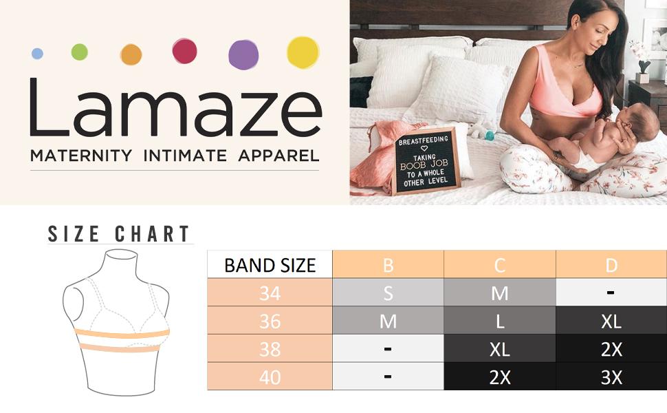Lamaze Intimates Womens Everyday Cotton Wire-Free Maternity//Nursing Bra