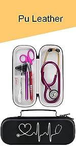 black stethoscope case