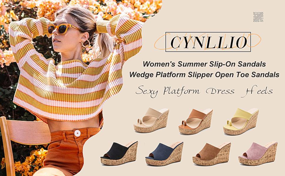 wedge sandals for women platform sandals high heel